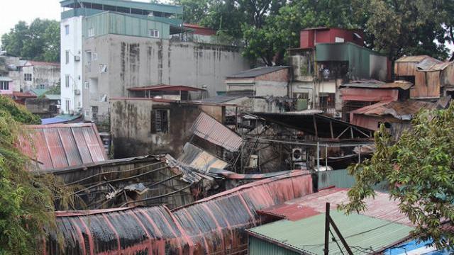 Cháy lớn gần Bệnh viện Nhi Trung ương: Xác định nguyên nhân