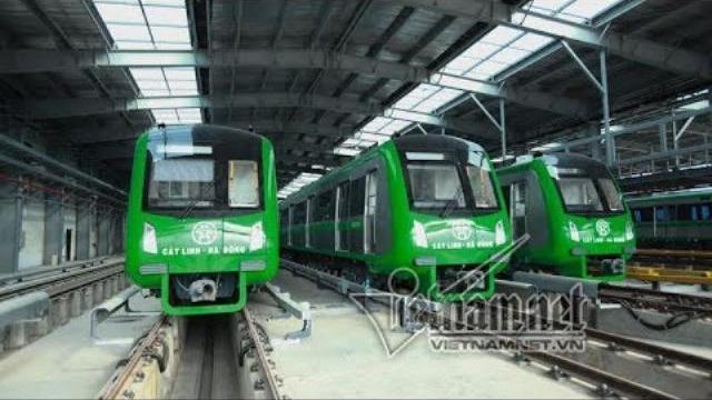 Chạy thử toàn tuyến 5 chuyến tàu đường sắt Cát Linh – Hà Đông