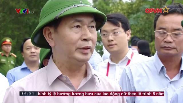 Chủ tịch nước Trần Đại Quang thăm dân vùng lũ
