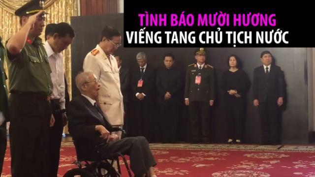 Nhà tình báo nổi tiếng tuổi 95 viếng Chủ tịch nước Trần Đại Quang