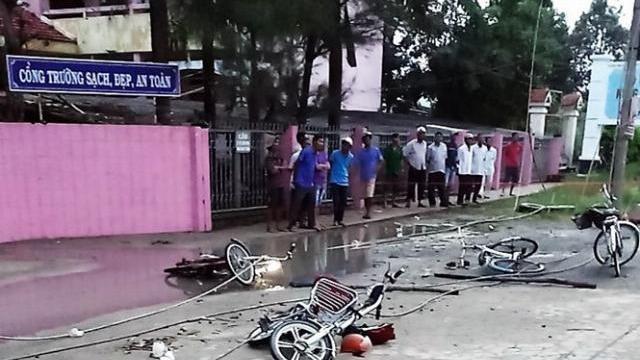 Người hùng kể phút giải cứu các học sinh gặp nạn trong sự cố đứt dây điện ở Long An