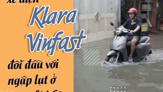"""Đem xe máy điện VinFast Klara lội nước """"lụt"""" sau bão tại Sài Gòn và cái kết"""