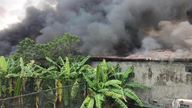 Cháy lớn kèm tiếng nổ gần trụ sở Liên đoàn Bóng đá Việt Nam