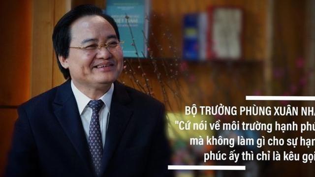 Bộ trưởng Phùng Xuân Nhạ nói về hạnh phúc trong môi trường giáo dục