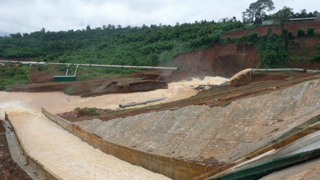 Đập thủy điện Đăk Kar xả nước vào ngày 9-8