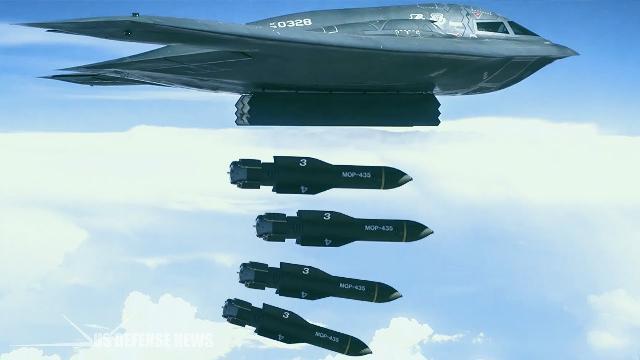 Oanh tạc cơ tàng hình Mỹ diễn tập rải đồng loạt 5 quả bom