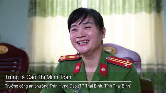 """""""Bông hồng thép"""" - Trung tá Cao Thị Minh Toàn chia sẻ đôi điều về công việc của mình"""