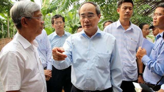 Bí thư Thành ủy Nguyễn Thiện Nhân kiểm tra công trình xây dựng trái phép ở Thủ Đức
