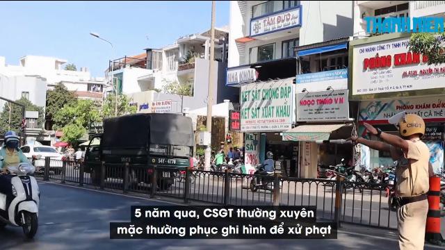 CSGT mặc thường phục ghi hình người đi ngược chiều suốt 5 năm ở trung tâm TP.HCM