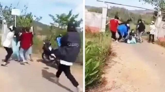 Quảng Nam Thiếu nữ bị cả chục người cầm mũ bảo hiểm vây đánh